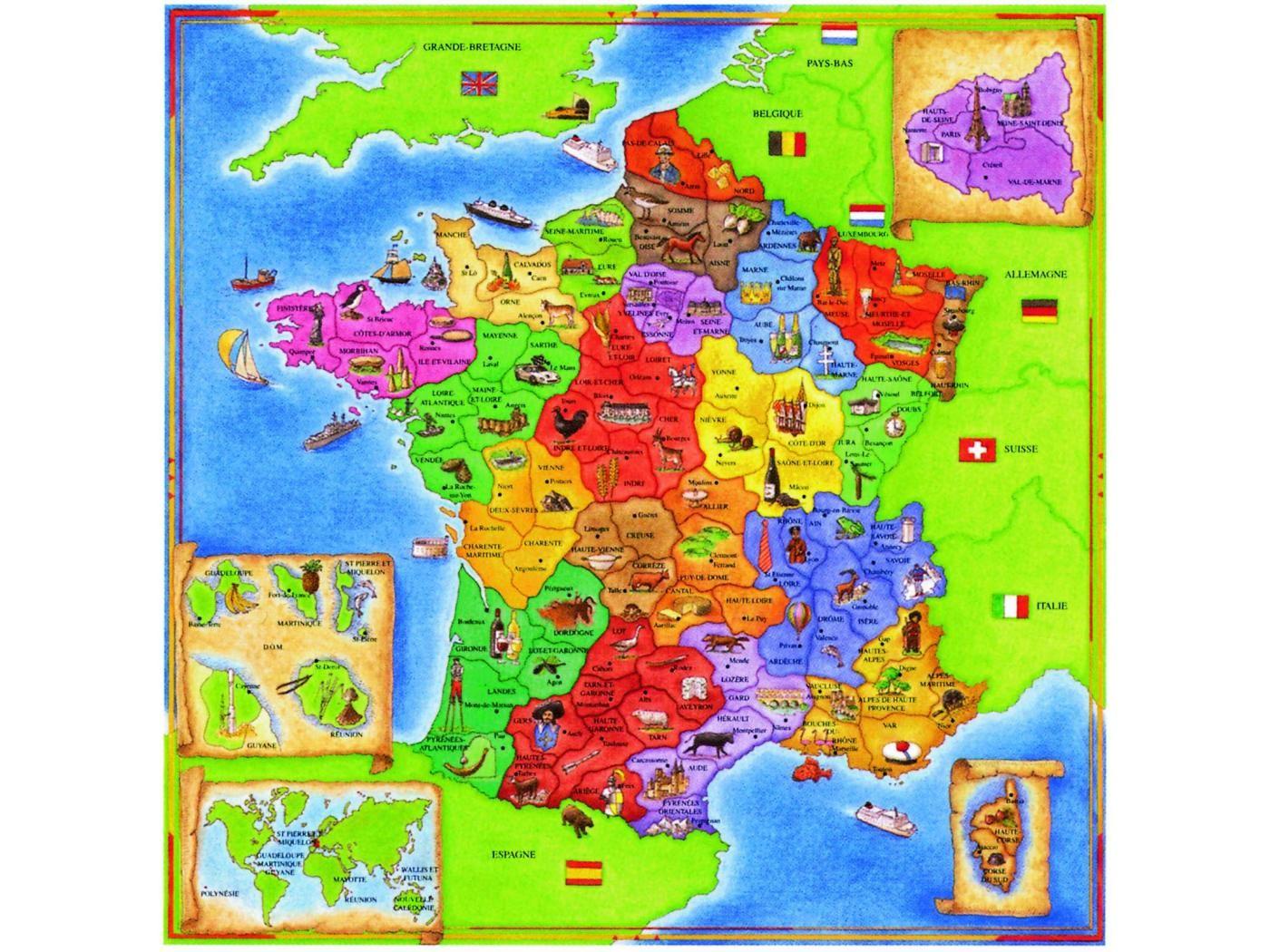 Carte De France | Carte, Carte De France, Carte Du Monde à Carte De France Pour Les Enfants