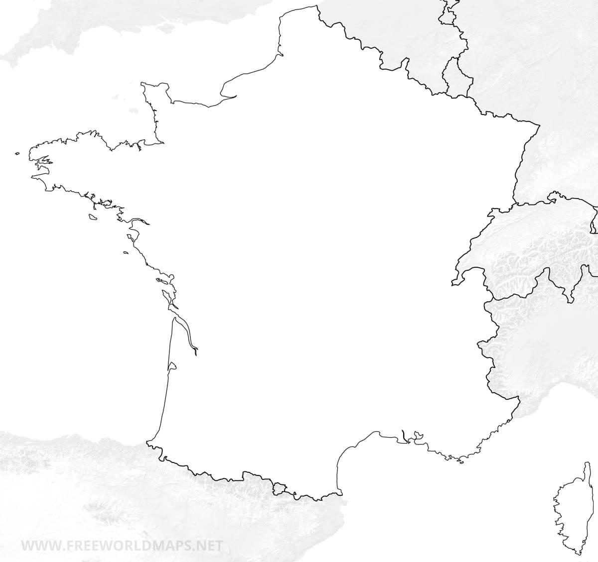 Carte De France dedans Carte De La France Vierge