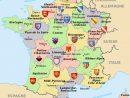 Carte De France Des 22 Anciennes Régions intérieur Carte France Avec Region