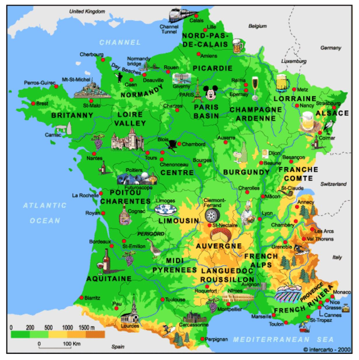 Carte De France Des Produits Régionaux | Les Régions De avec Carte De France Departement À Imprimer