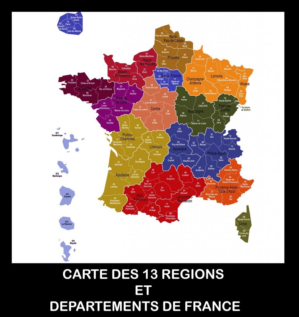 Carte De France Des Régions Images » Vacances - Arts- Guides pour Carte Des 13 Régions