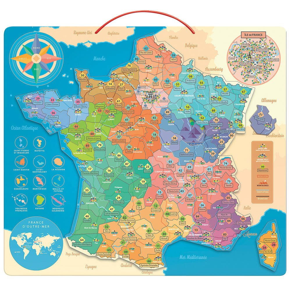 Carte De France Educative serapportantà Jeu Carte De France