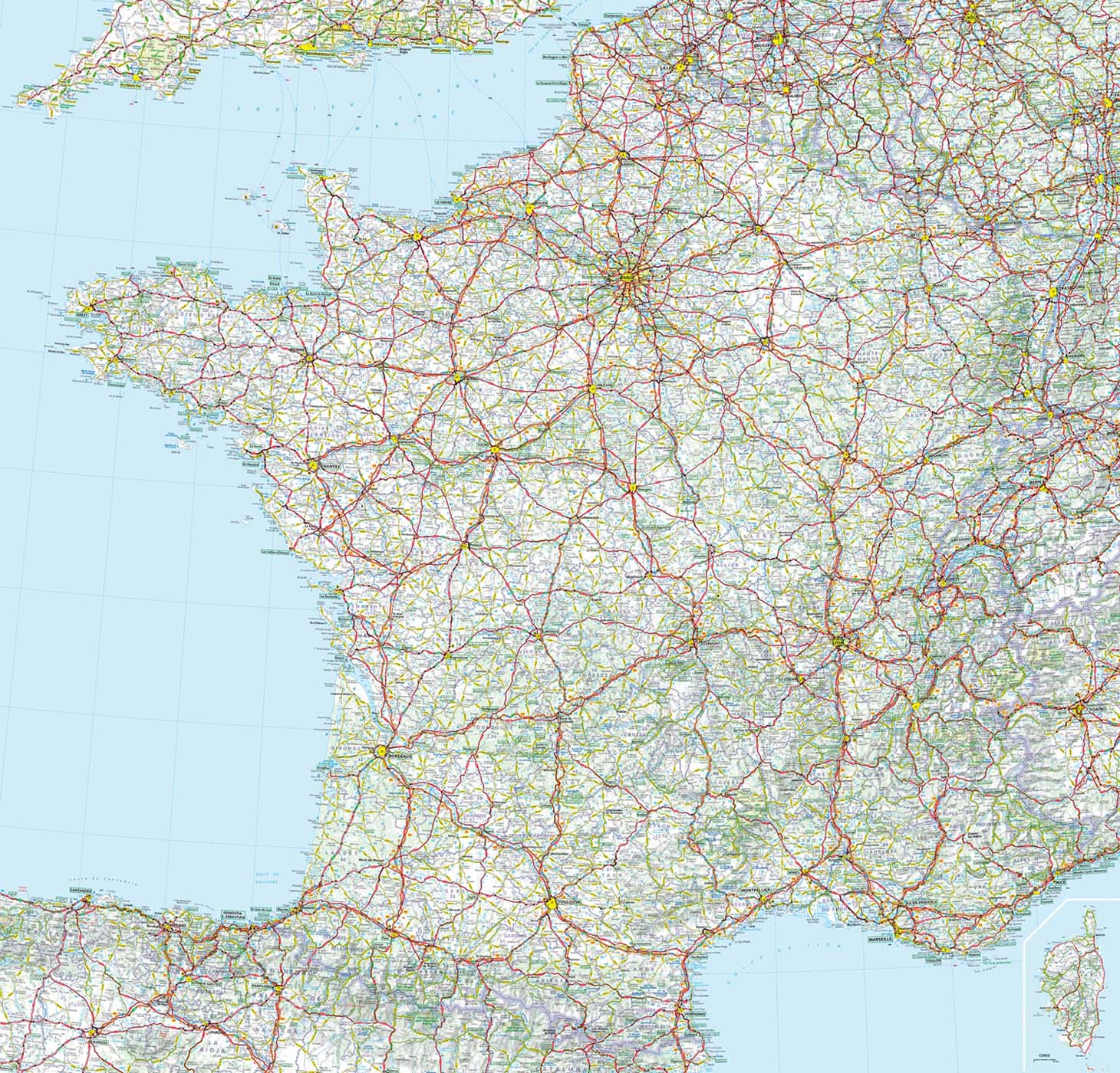 Carte De France Grandes Routes Michelin pour Carte Départementale De La France
