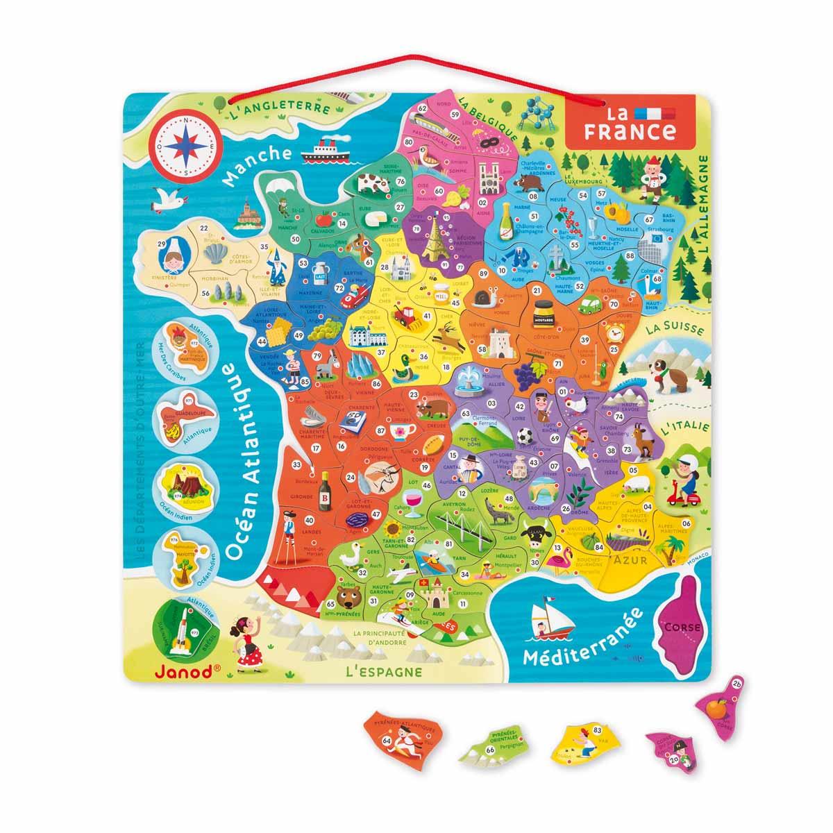 Carte De France Janod | My Blog concernant Carte De France Pour Enfant