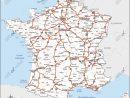Carte De France Routière Vecteur intérieur Carte De France A Imprimer