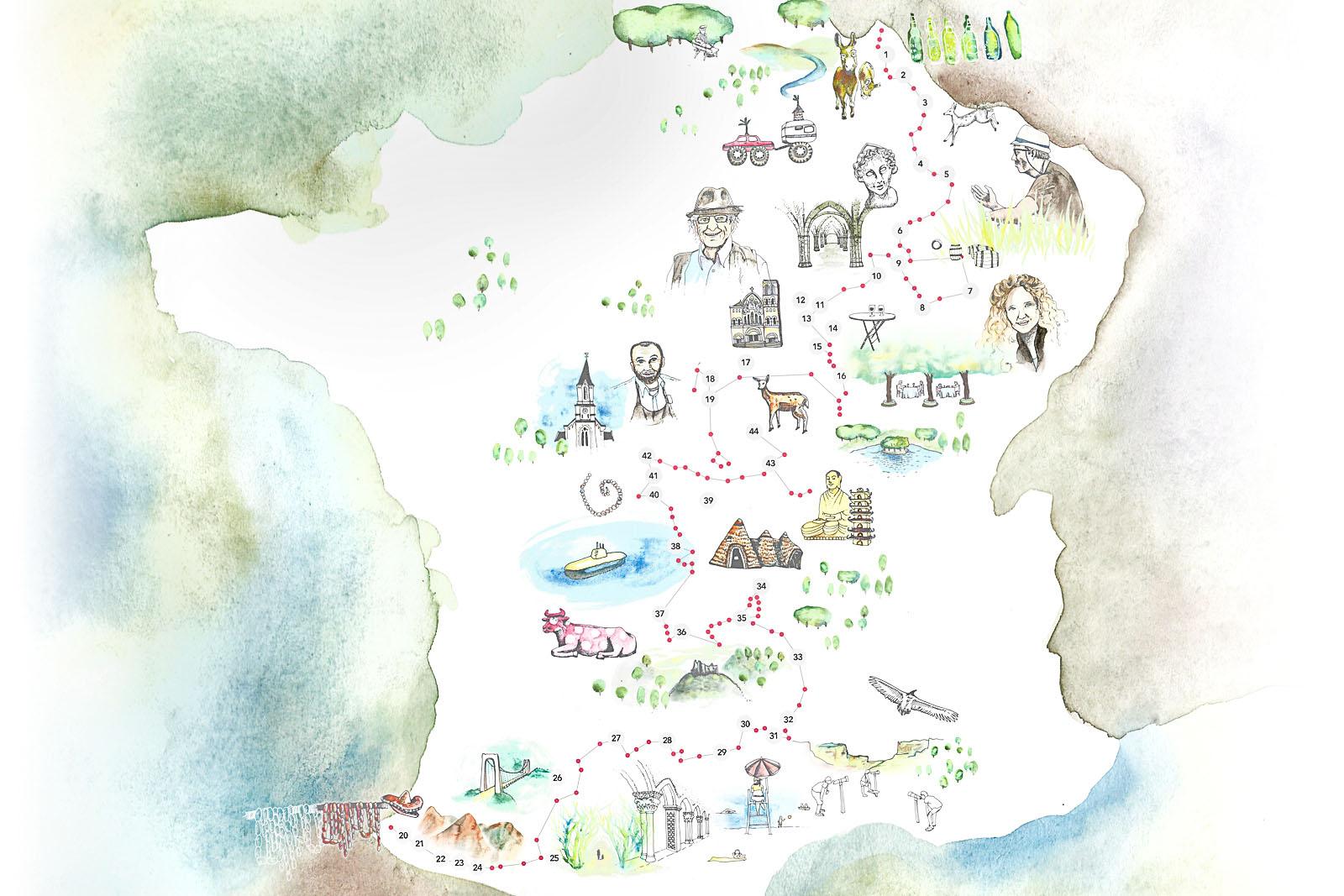 Carte De France Touristique À Télécharger - Les Voyages De Mat avec Carte Des Régions De France À Imprimer