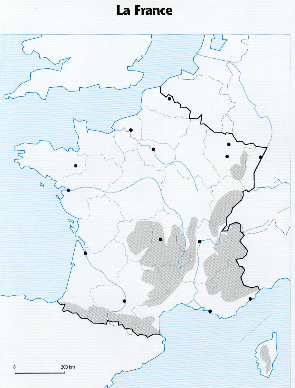 Carte De France Vierge À Compléter Ce2   My Blog dedans Carte Des Régions À Compléter