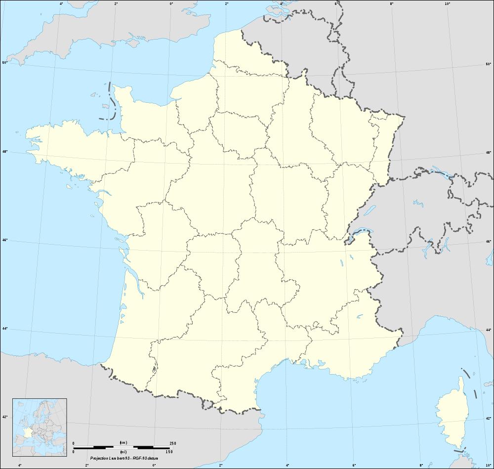 Carte De France Vierge Avec Regions serapportantà Liste Des Régions De France
