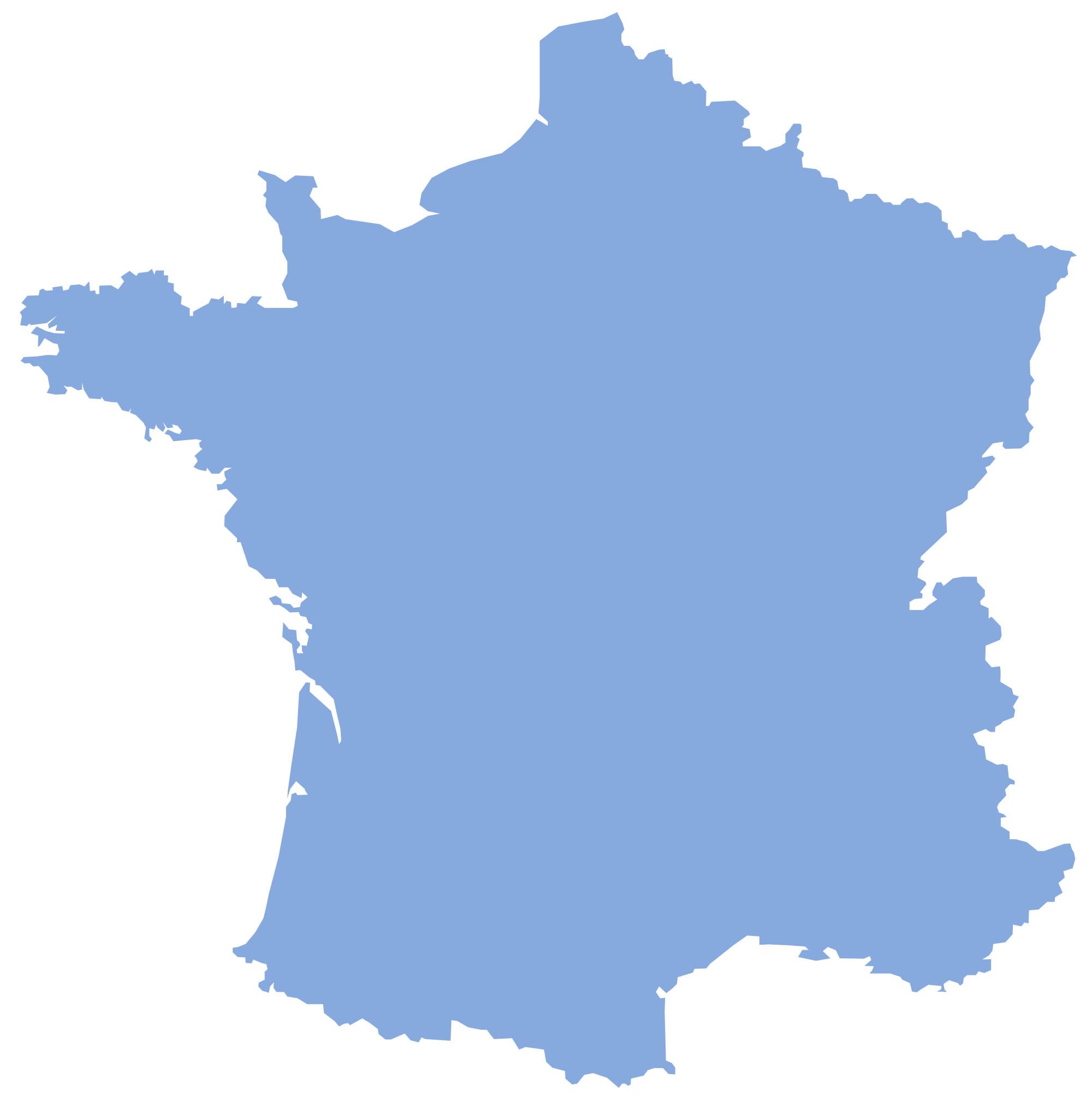 Carte De France Vierge Bleue, Carte Vierge Bleue De France dedans Carte Vierge De La France