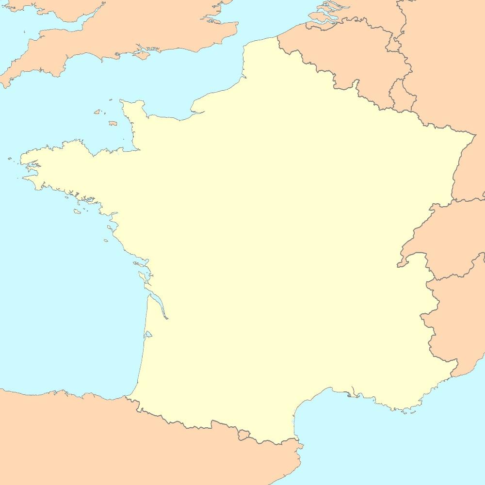 Carte De France Vierge : Fond De Carte De France intérieur Carte De La France Vierge