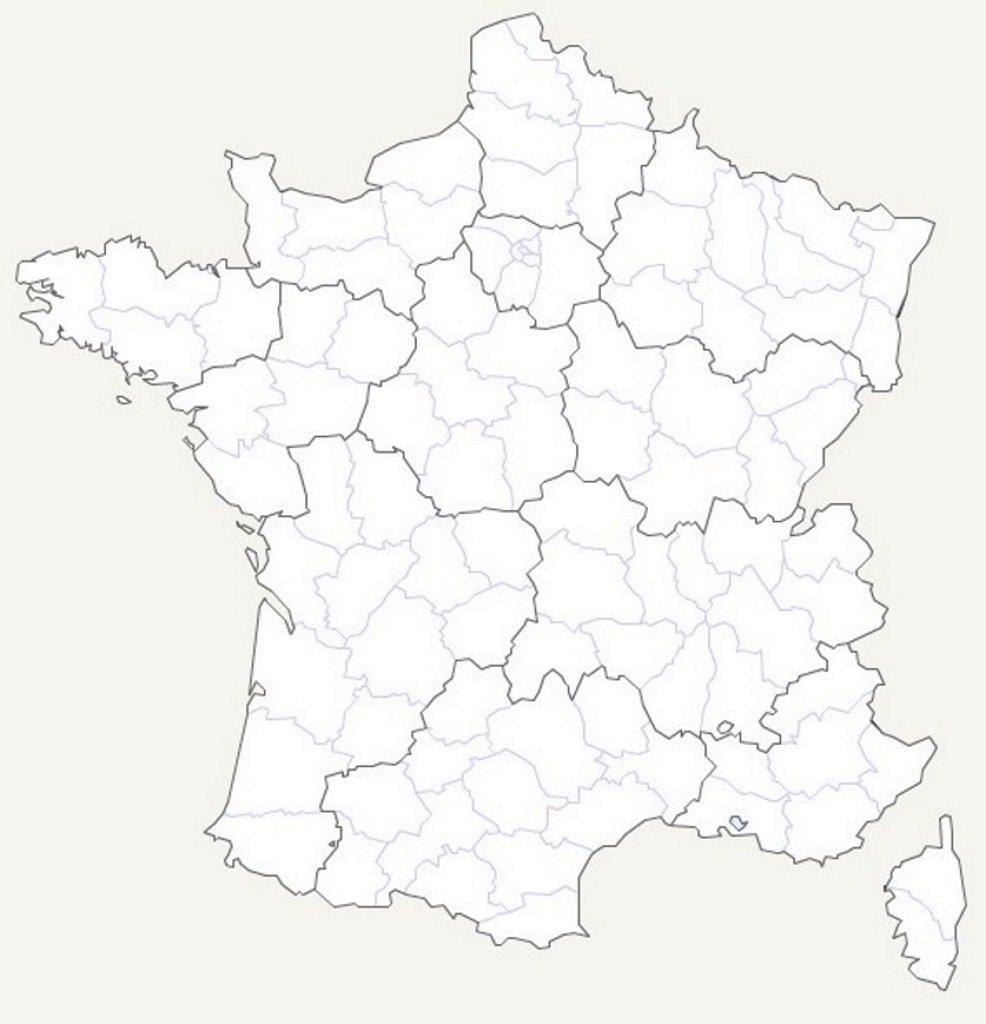 Carte De France Vierge intérieur Carte De La France Vierge