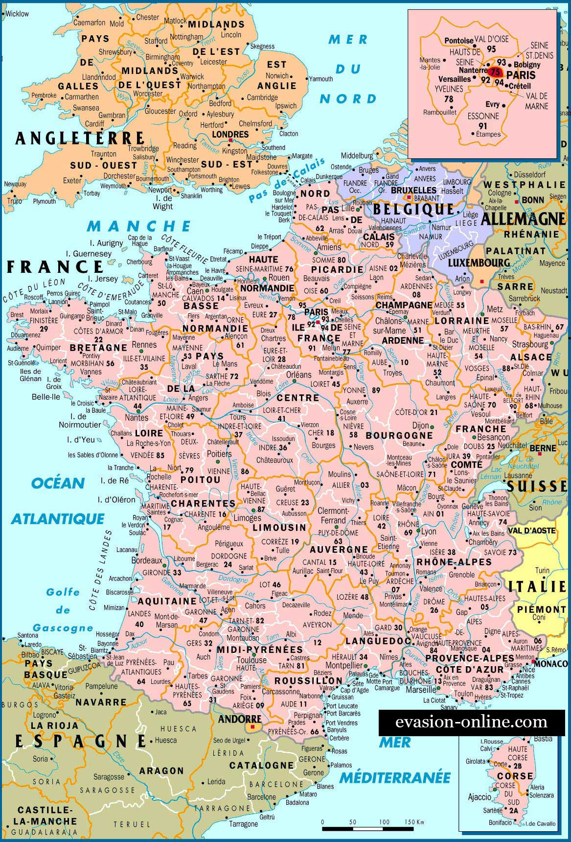 Carte De France - Villes » Vacances - Arts- Guides Voyages avec Carte De France Avec Les Villes