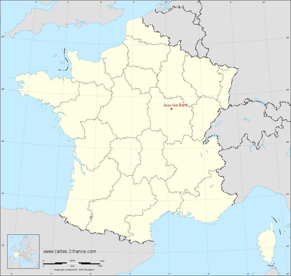 Carte De Jeux-Lès-Bard : Situation Géographique Et serapportantà Jeu Carte De France