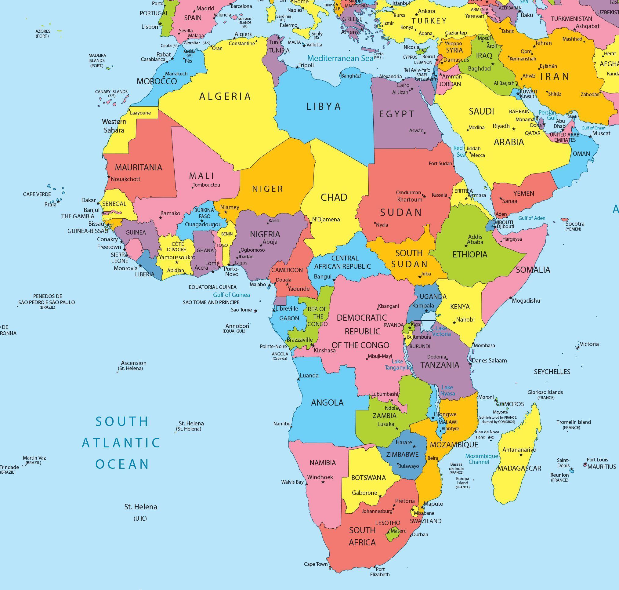 Carte De L Afrique Cartes Sur Le Continent Africains | Pays tout Carte Pays D Europe