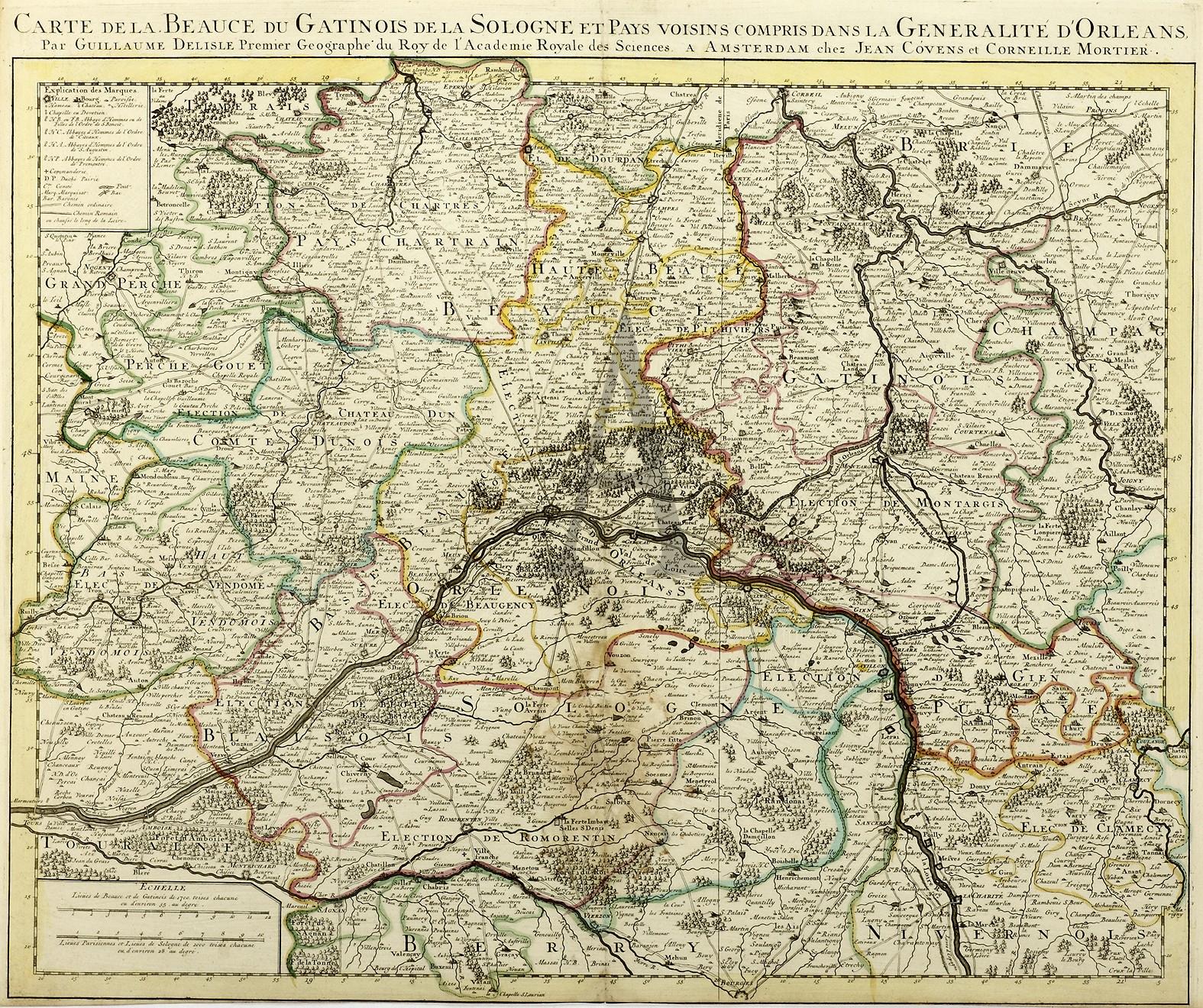 Carte De La Beauce Du Gatinos De La Sologne Et . intérieur Carte De Fra