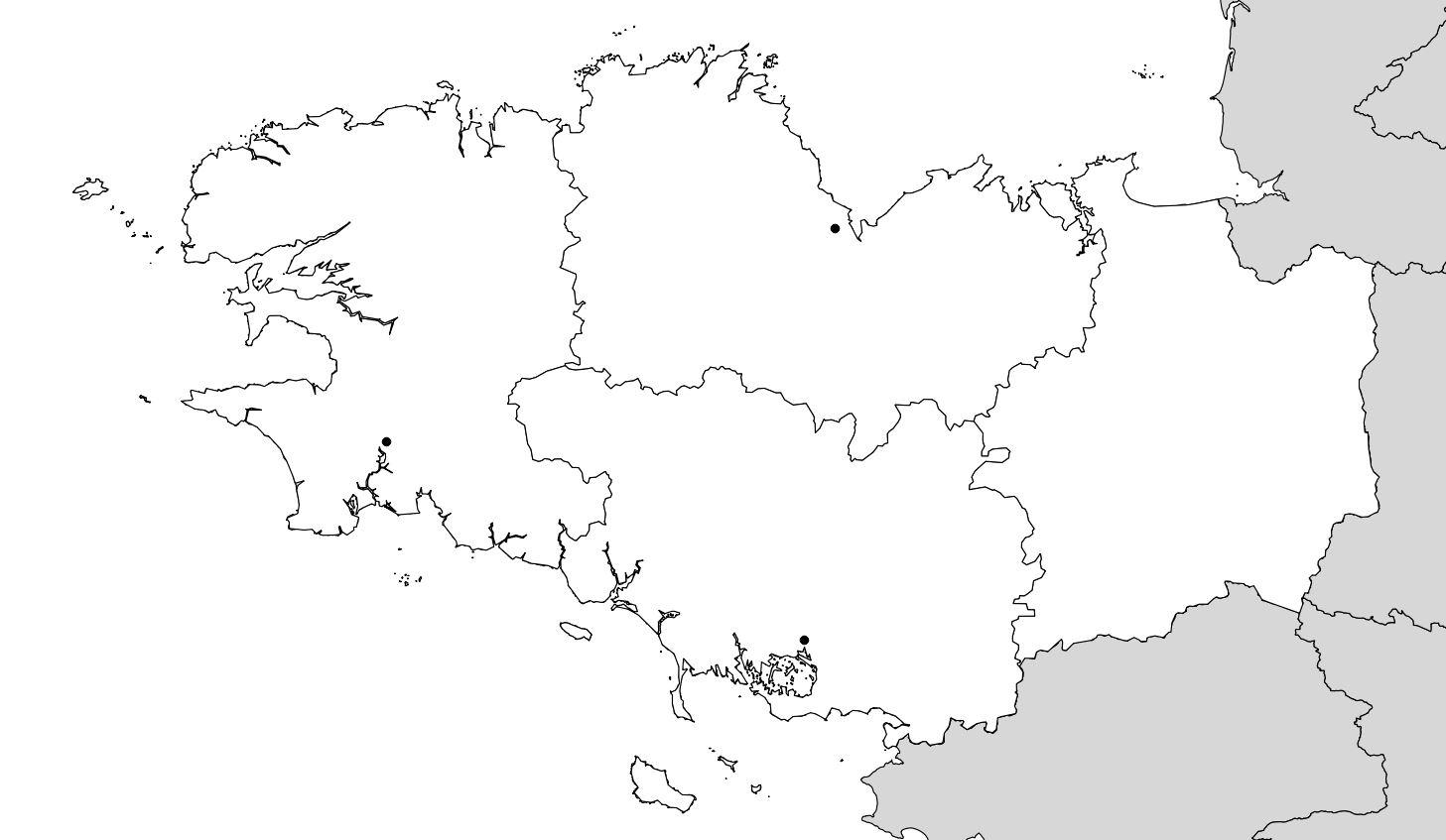Carte De La Bretagne (Administrative) - Villes, Relief pour Carte Département Vierge