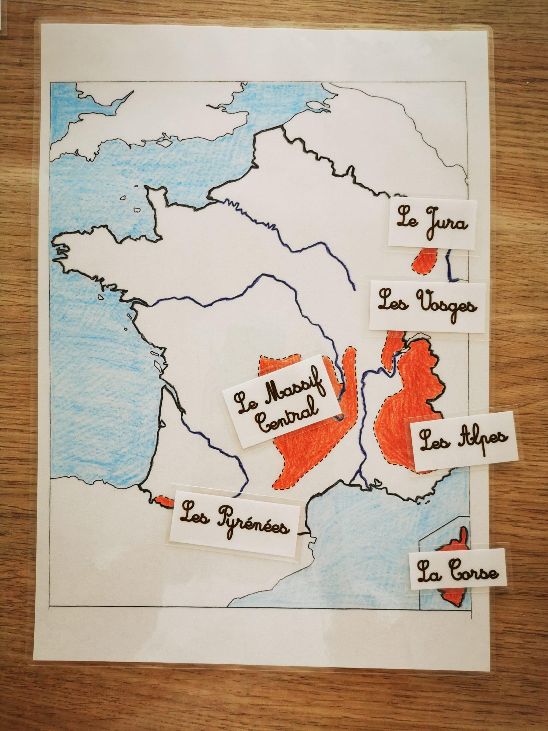 Carte De La France - Les Activités De Maman avec Carte Fleuve France