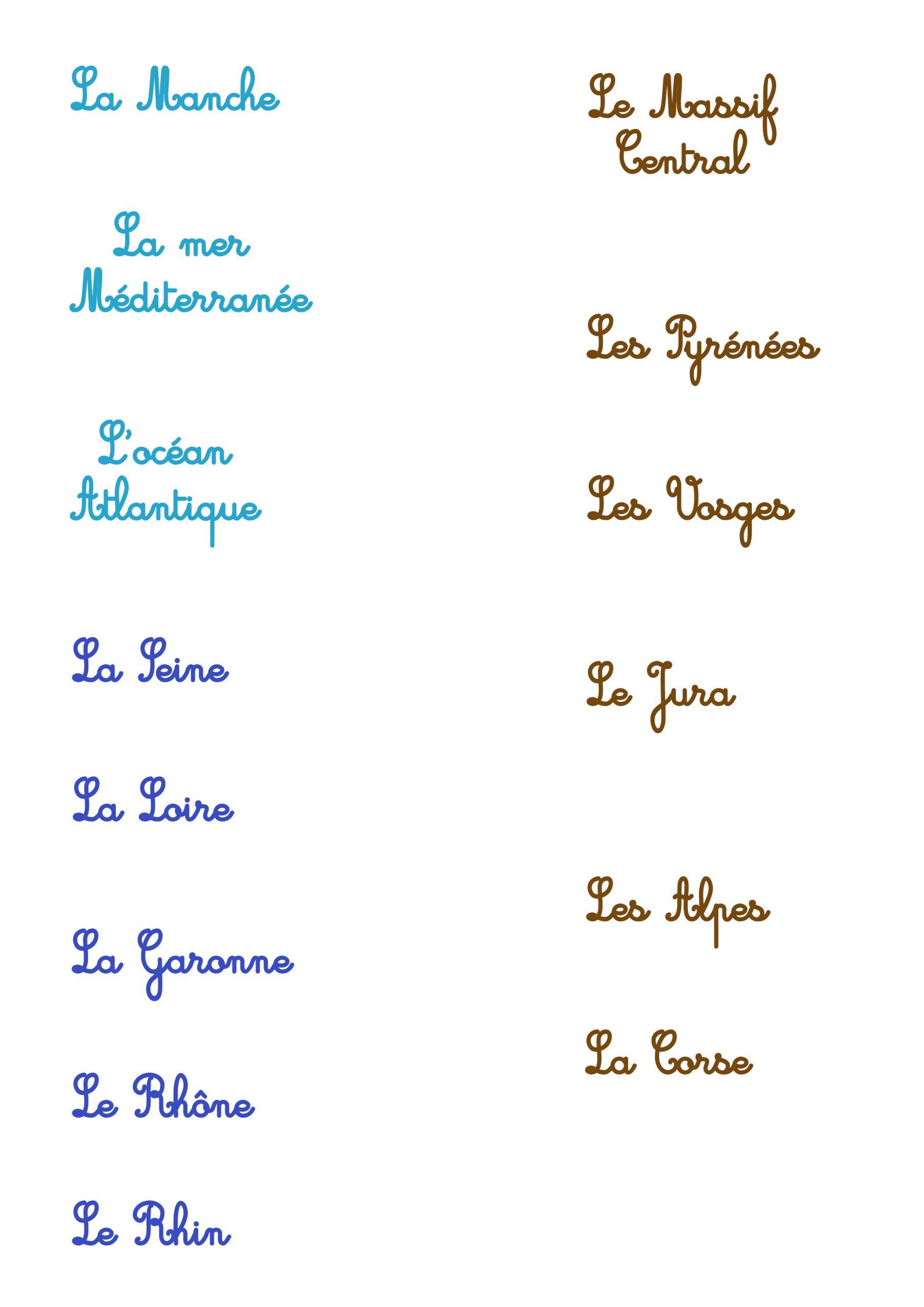 Carte De La France - Les Activités De Maman intérieur Carte Des Fleuves De France
