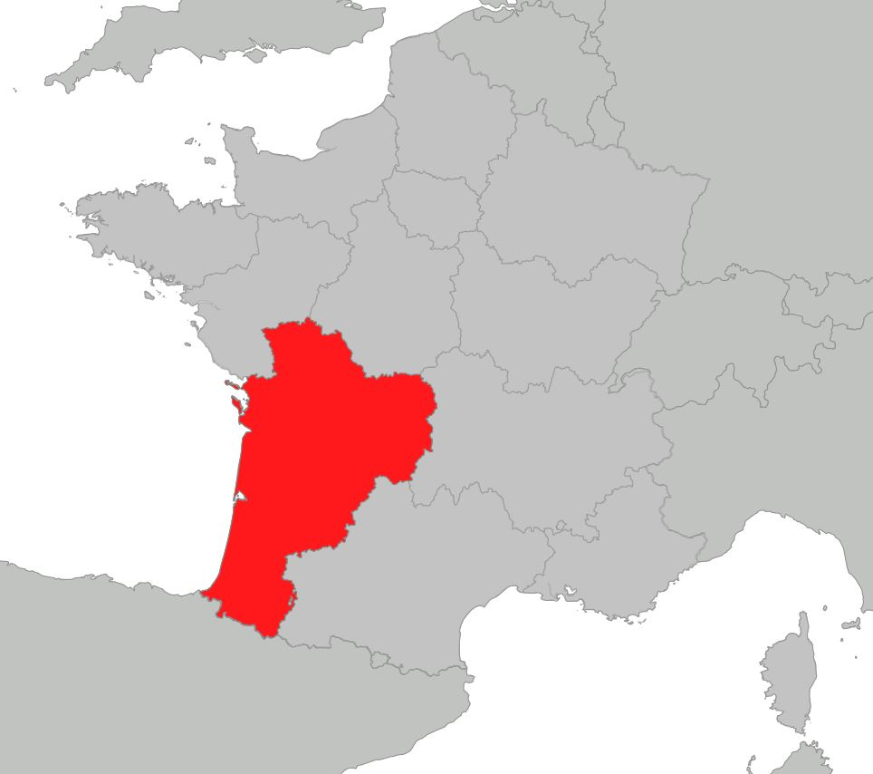 Carte De La Nouvelle-Aquitaine - Nouvelle-Aquitaine Cartes dedans Carte De France Vierge Nouvelles Régions