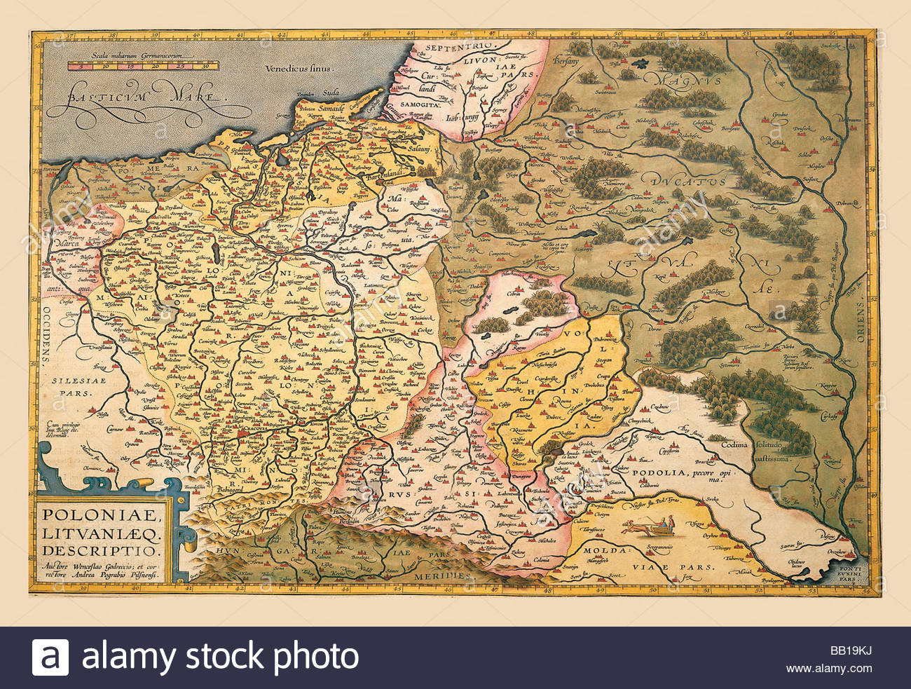 Carte De La Pologne Et L'europe De L'est Banque D'images dedans Carte Europe De L Est