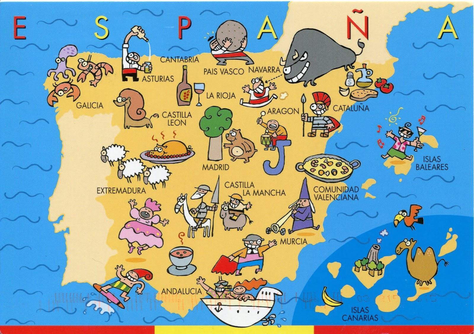 Carte De L'espagne Pour Les Enfants - Espagne Carte Pour Les avec Carte Europe Enfant