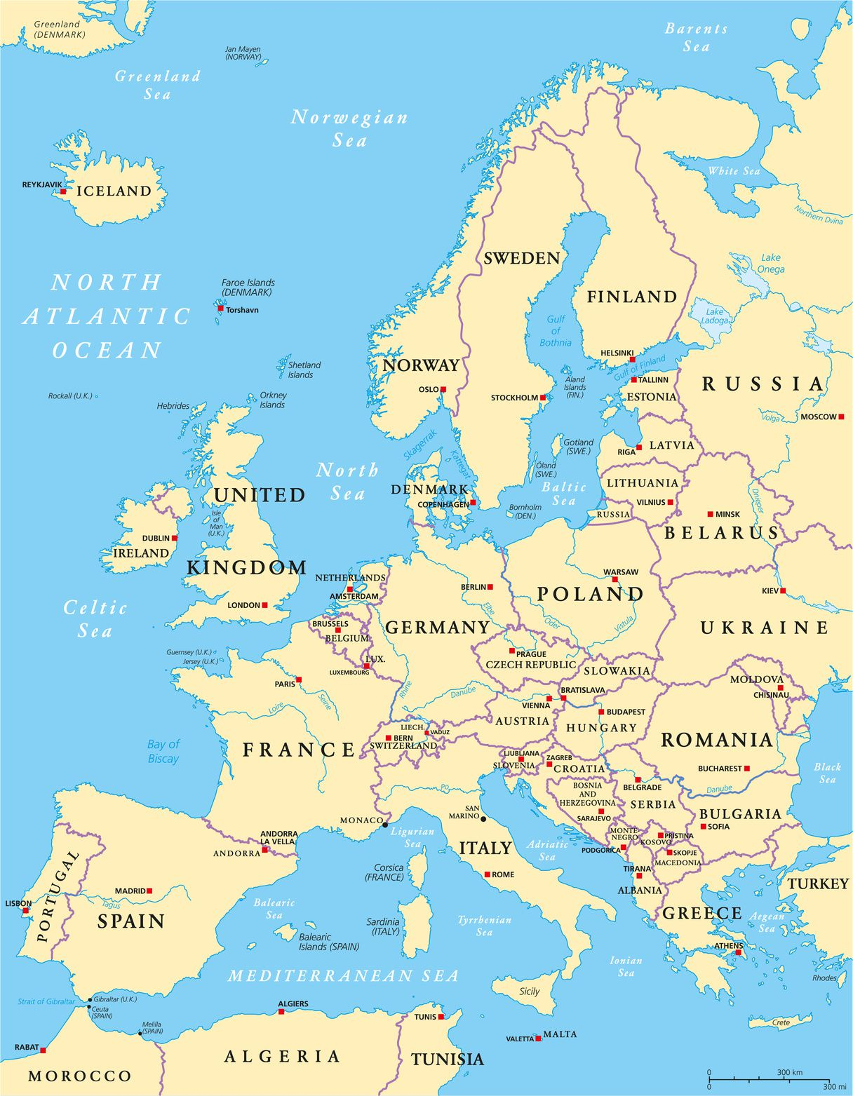 Carte De L'europe - Cartes Reliefs, Villes, Pays, Euro, Ue concernant Carte Europe De L Est
