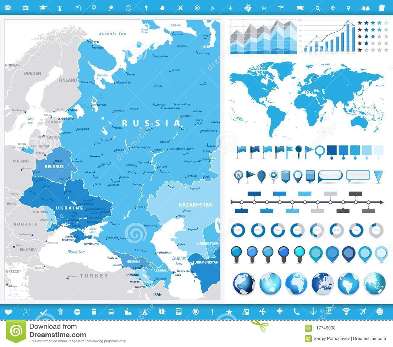 Carte De L'europe De L'est Et Éléments Graphic encequiconcerne Carte Europe De L Est