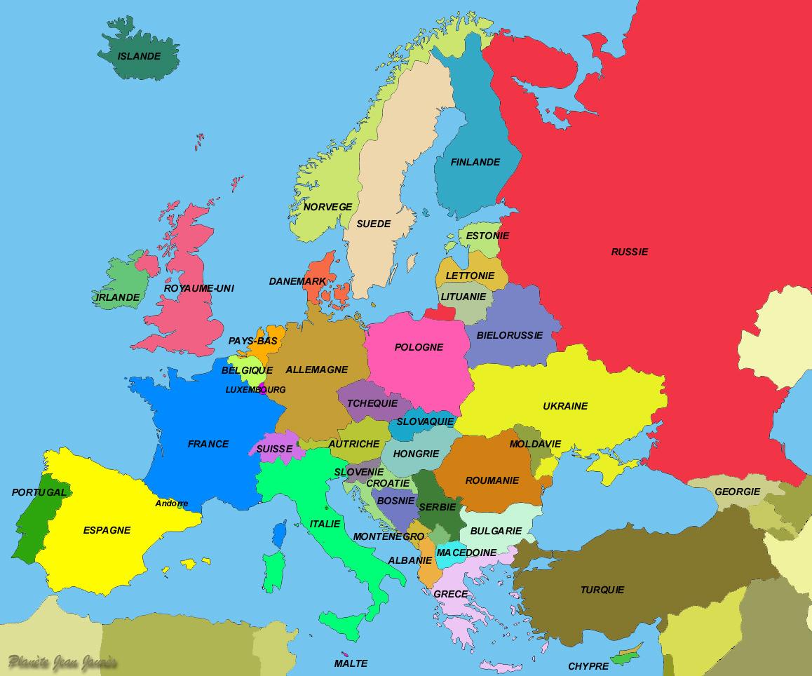 Carte De L'europe tout Carte Géographique De L Europe
