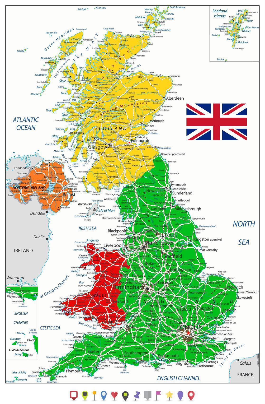 Carte De L'irlande Du Nord - Plusieurs Carte Du Pays (Villes concernant Carte De L Europe Détaillée
