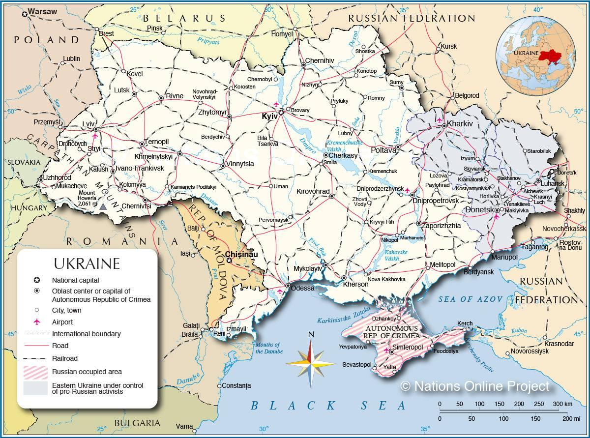 Carte De L'ukraine - Plusieurs Cartes En Europe (Villes intérieur Carte De La France Avec Ville