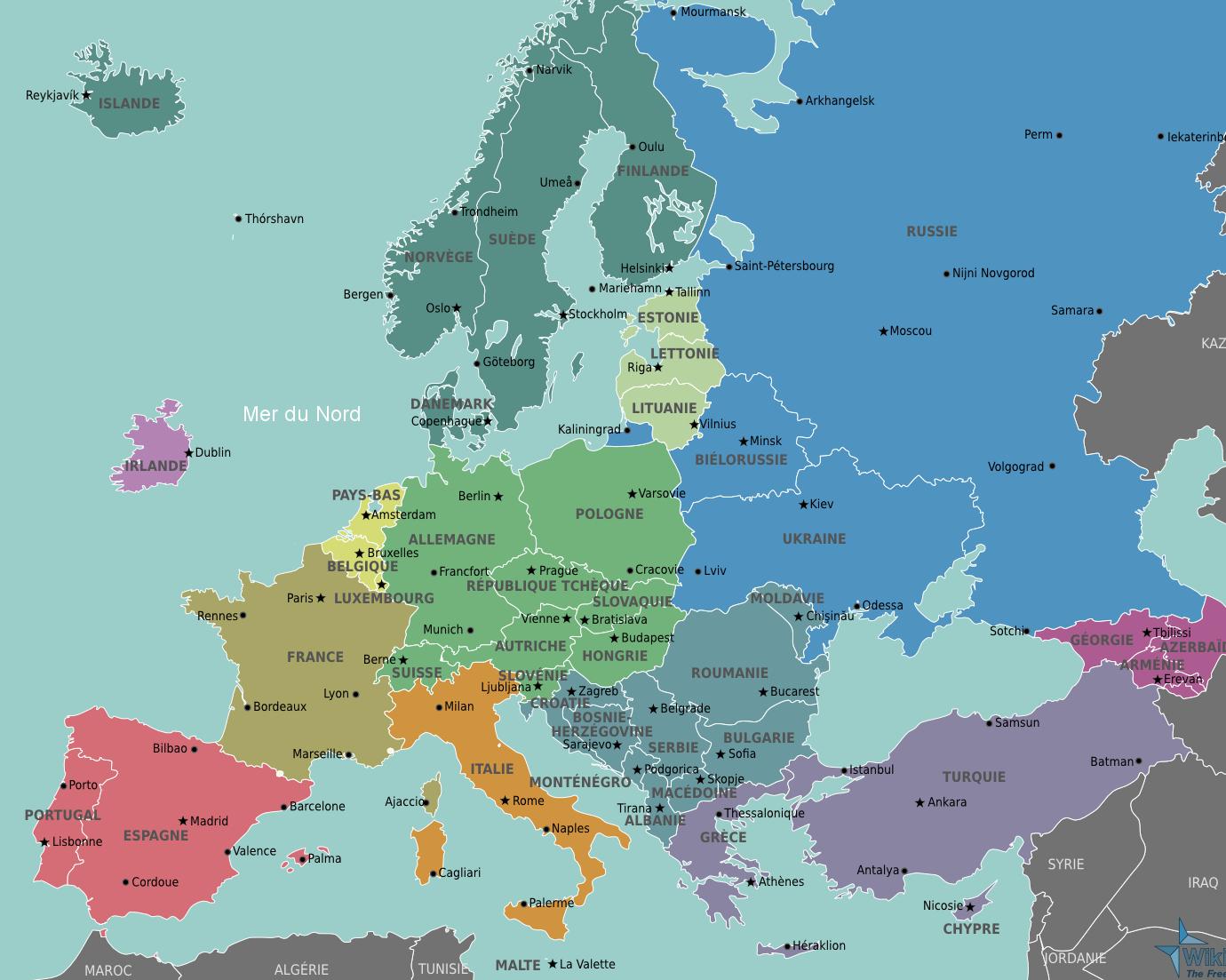 Carte De L'union Européenne : Mapcirclejerk intérieur Carte Union Europeene