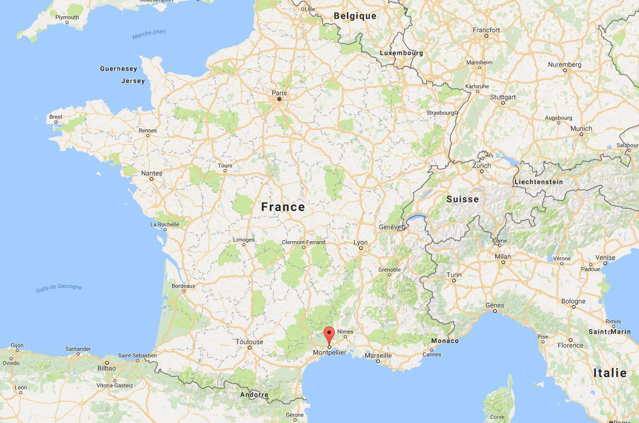 Carte De Montpellier - Découvrir La Ville De Montpelleir Sur concernant Carte De La France Avec Ville