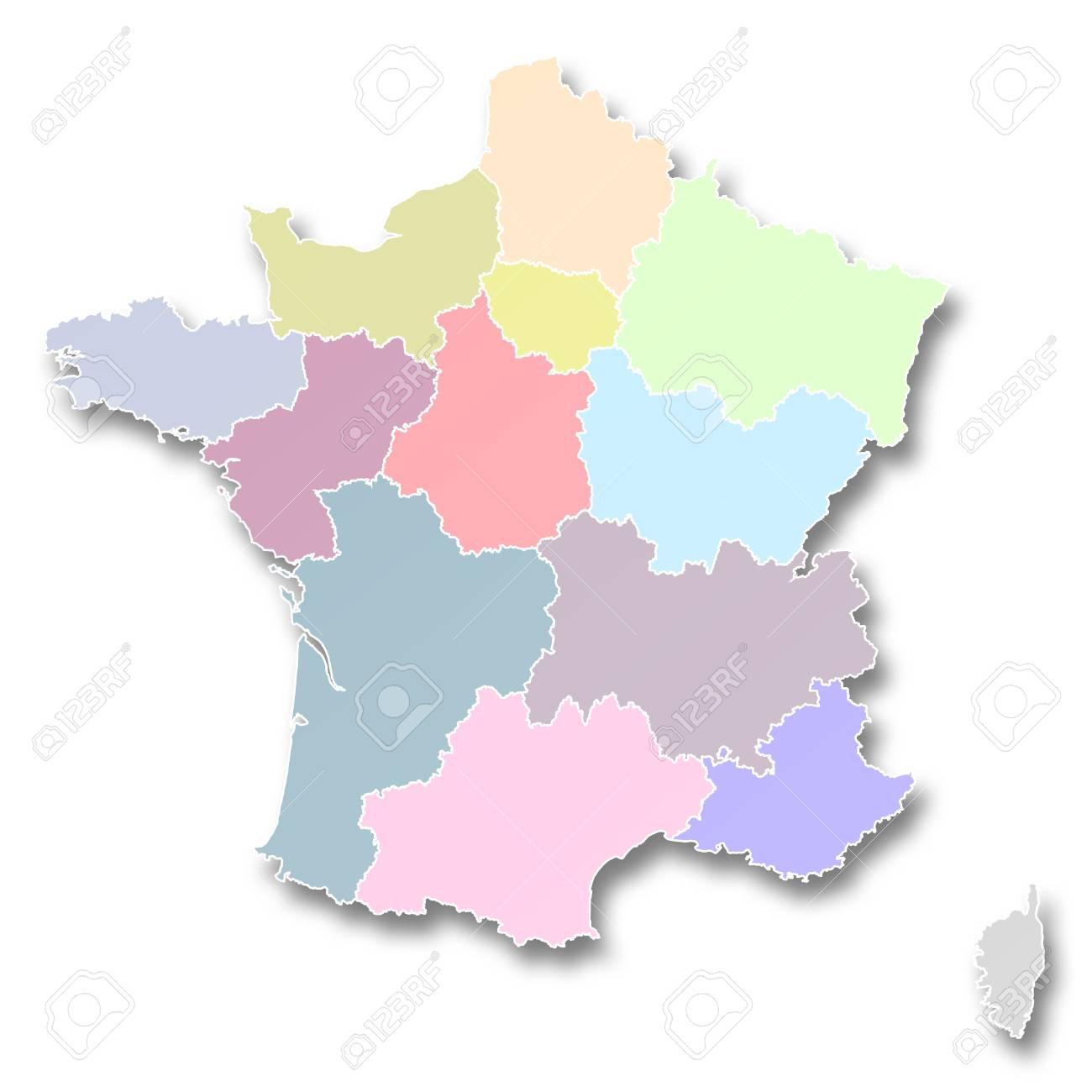 Carte De Nouvelles Régions De France dedans Carte Des Nouvelles Régions