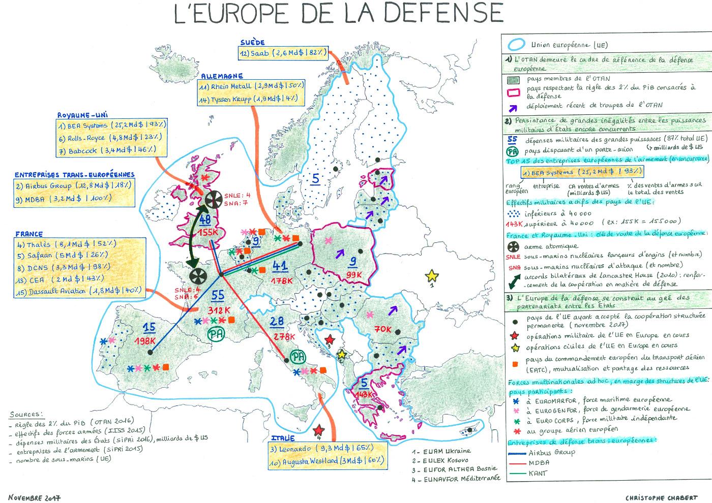 Carte De Synthèse : Où En Est-On De L'europe De La Défense? intérieur Carte Union Européenne 2017