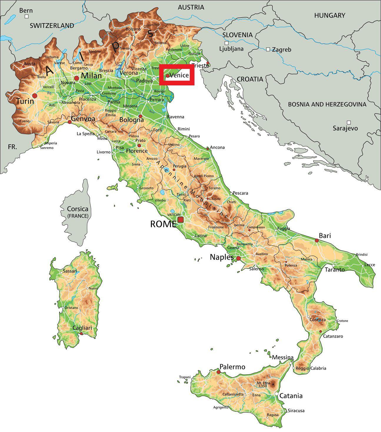 Carte De Venise - Plusieurs Cartes De La Ville En Italie destiné Carte De La France Avec Ville