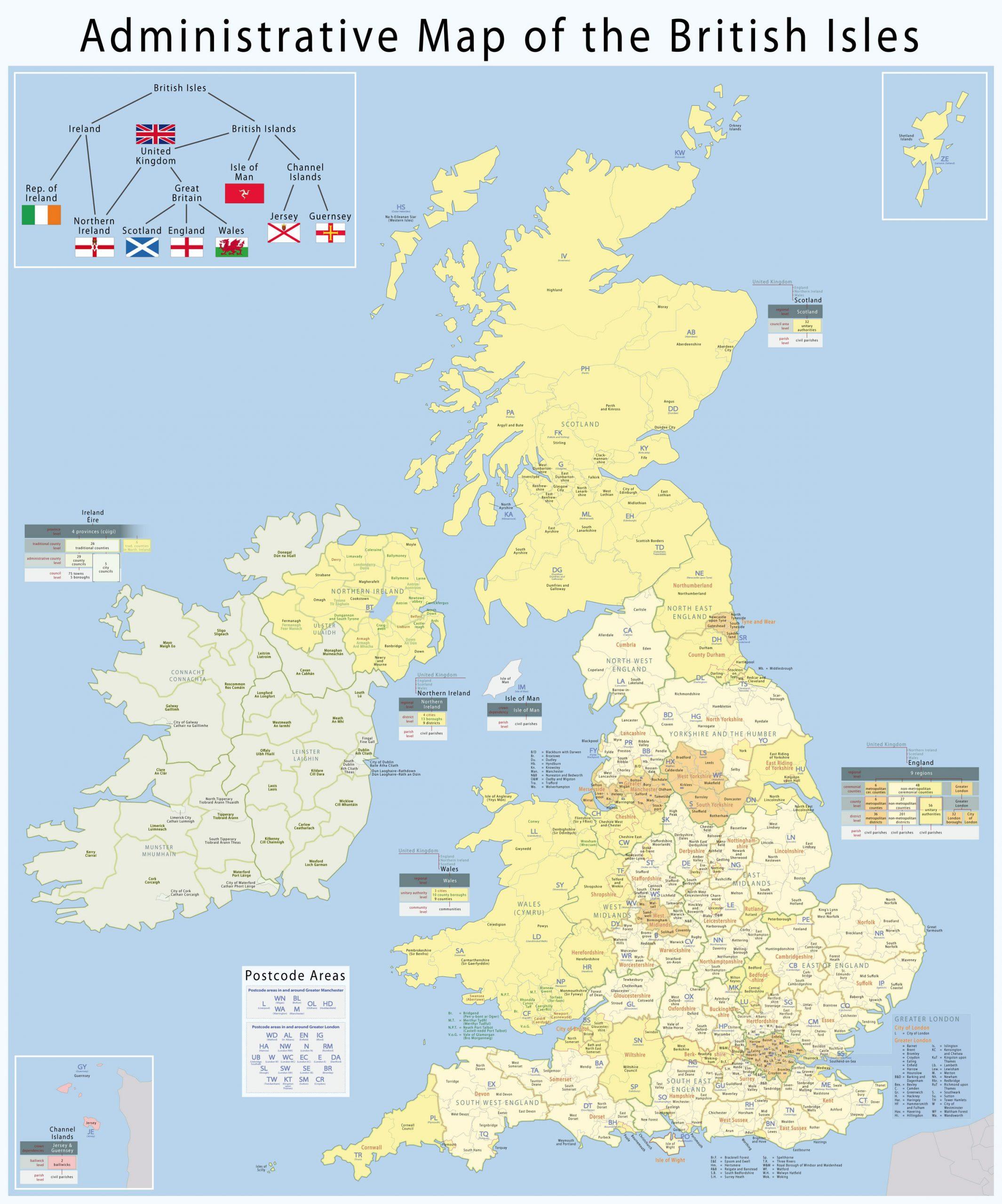 Carte Départements Royaume-Uni, Carte Des Départements Du dedans Carte Avec Les Departement