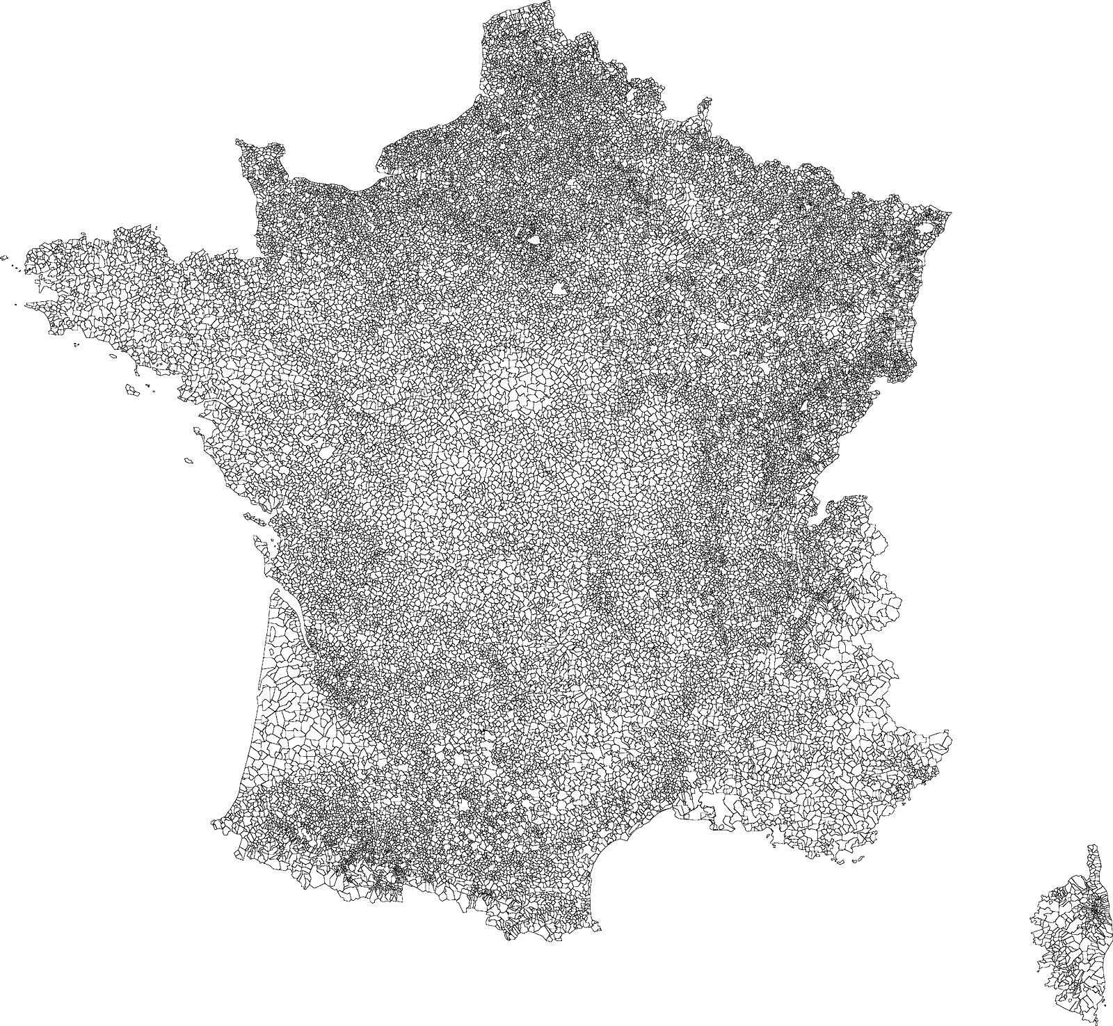 Carte Des Communes Françaises pour Carte De Fra