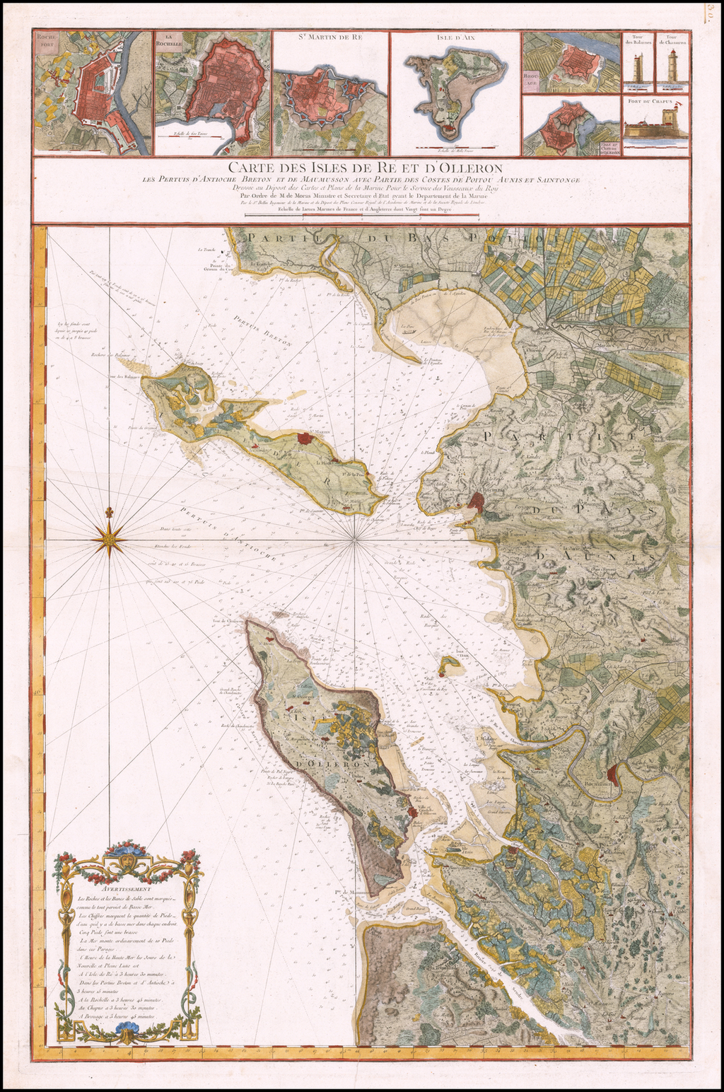 Carte Des Isles De Re Et D'olleron Les Pertuis D'antioche intérieur Carte Avec Departement