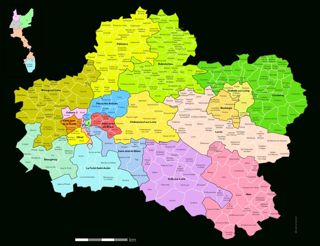 Carte Des Nouveaux Cantons Du Loiret Avec Villes Et Communes à Carte De France Avec Les Villes