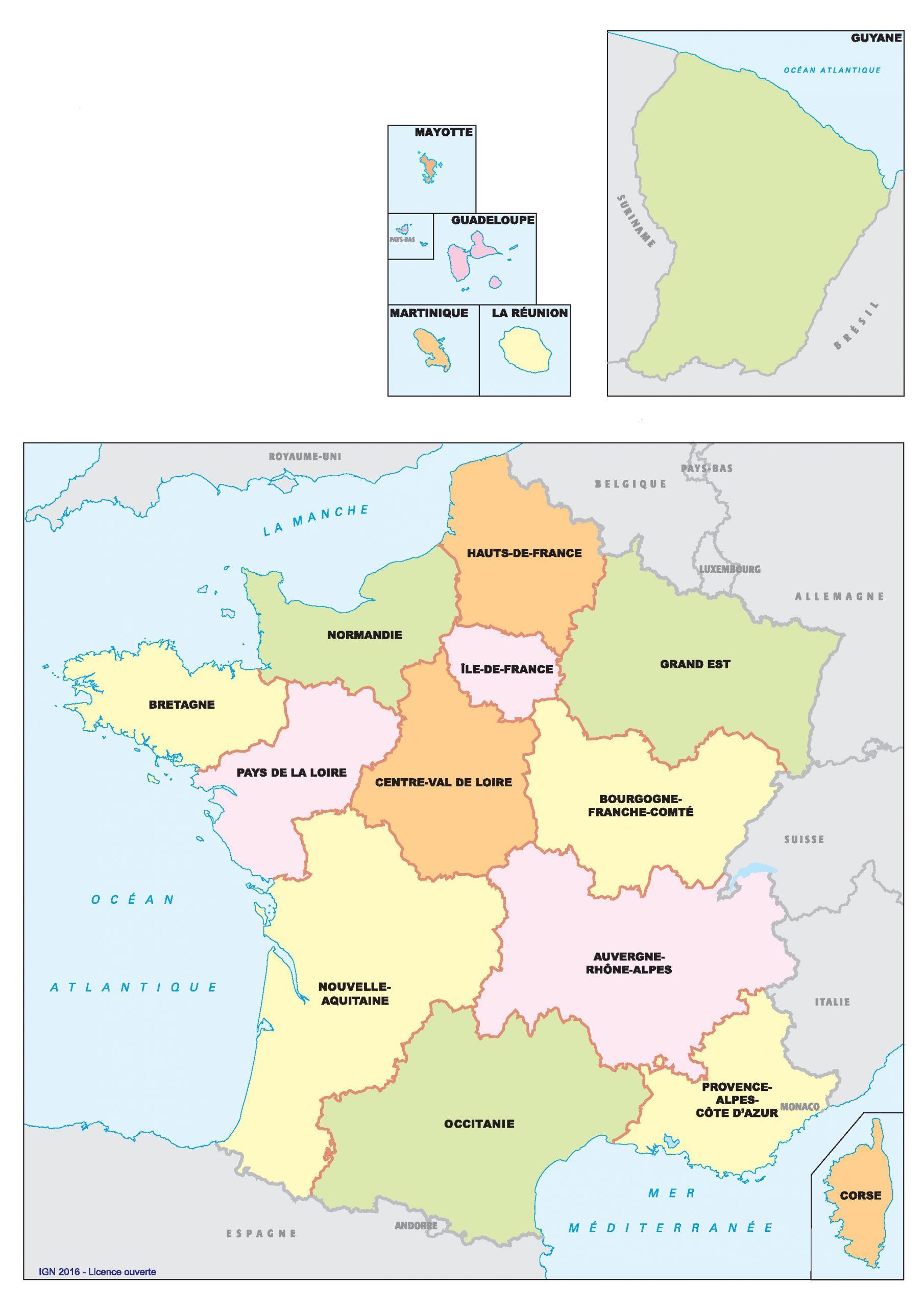 Carte Des Nouvelles Régions De France | Webzine+ dedans Nouvelles Régions Carte