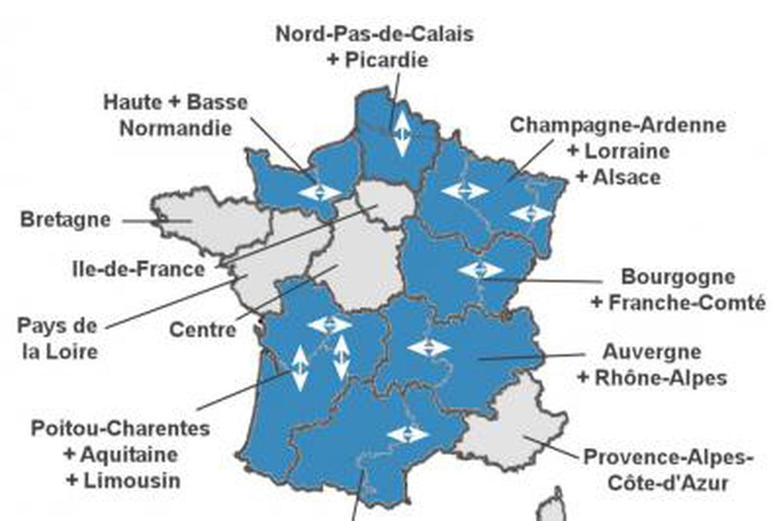 Carte Des Nouvelles Régions : Voici Les 13 Régions Françaises intérieur Carte Des 13 Régions