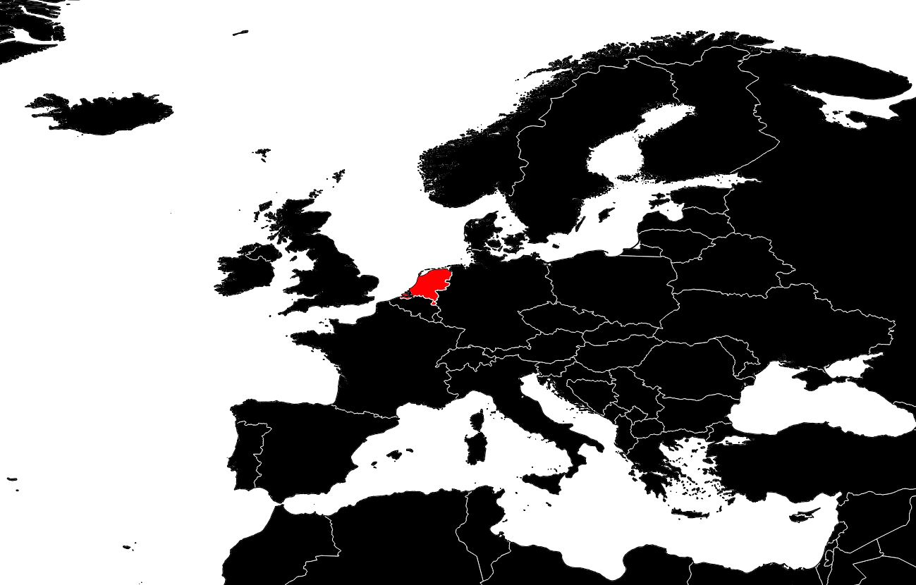 Carte Des Pays-Bas - Cartes Du Relief, Villes concernant Carte D Europe Avec Pays