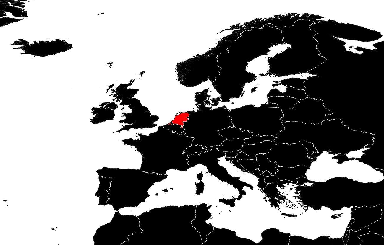 Carte Des Pays-Bas - Cartes Du Relief, Villes intérieur Carte Des Pays D Europe