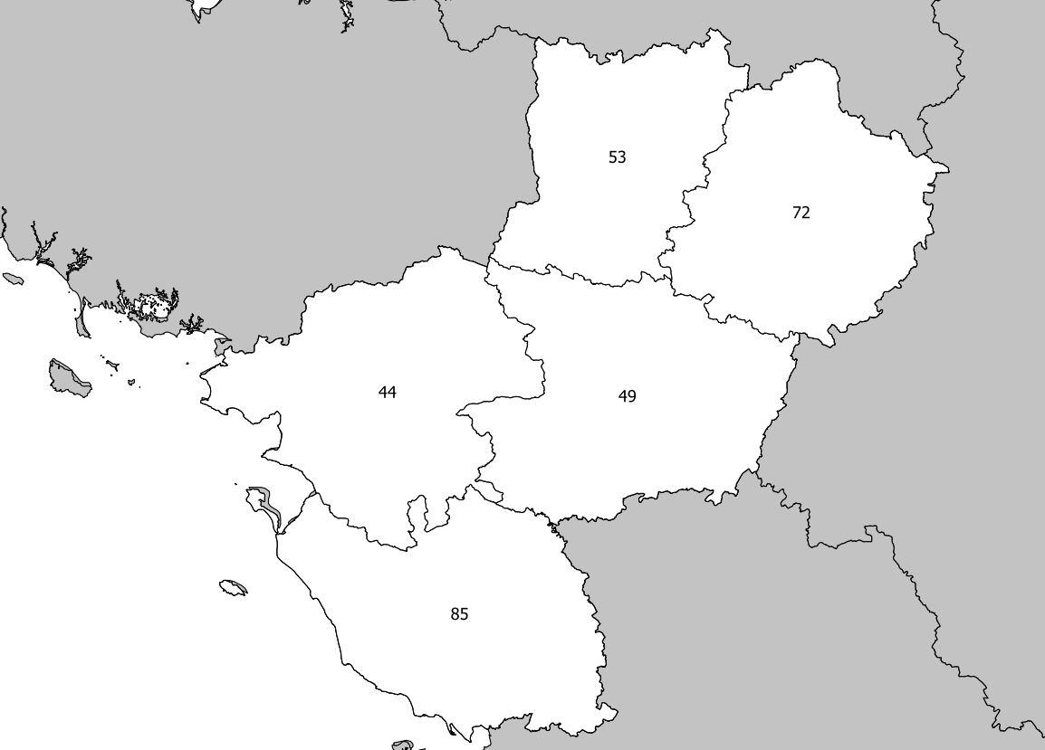 Carte Des Pays De La Loire - Pays De La Loire Carte Des pour Carte De France Avec Departement A Imprimer