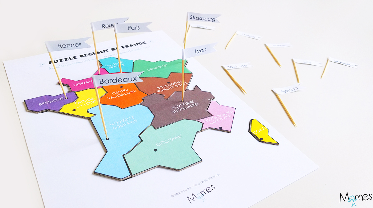 Carte Des Régions De France À Imprimer En Puzzle ! - Momes pour Carte De France Imprimable Gratuite