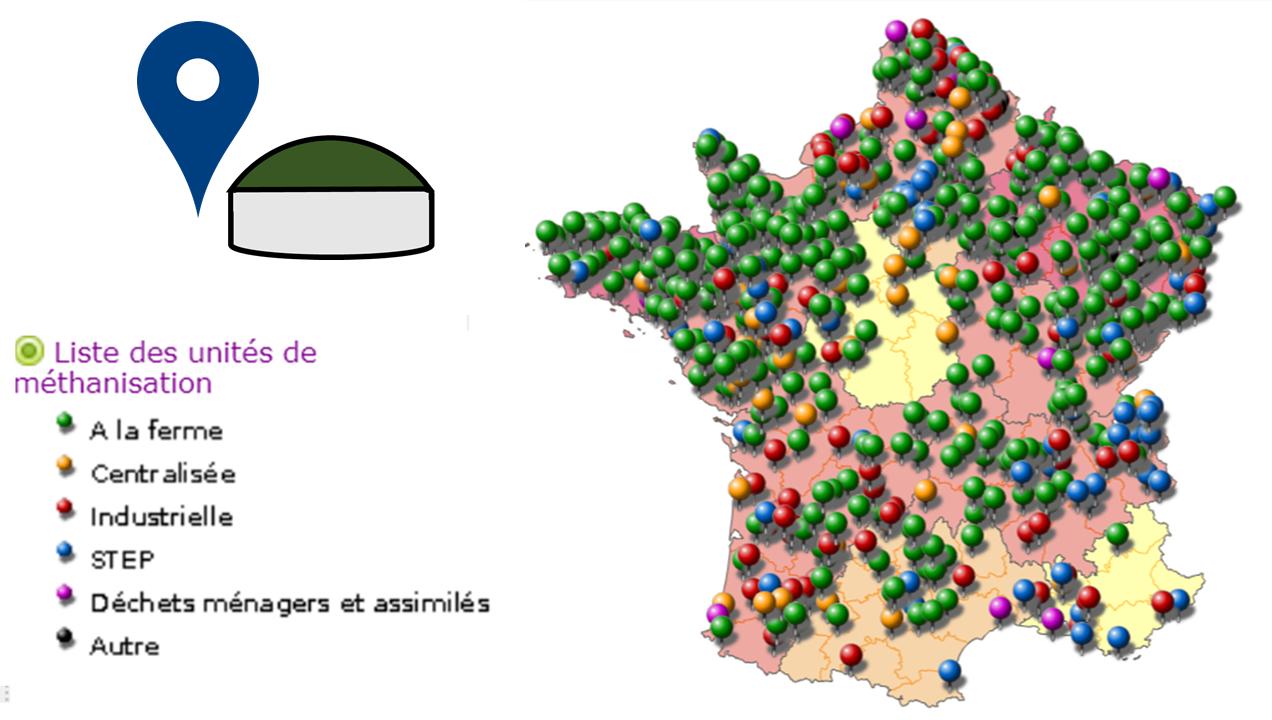 Carte Des Unités De Méthanisation En France | Atee destiné Liste Des Régions Françaises