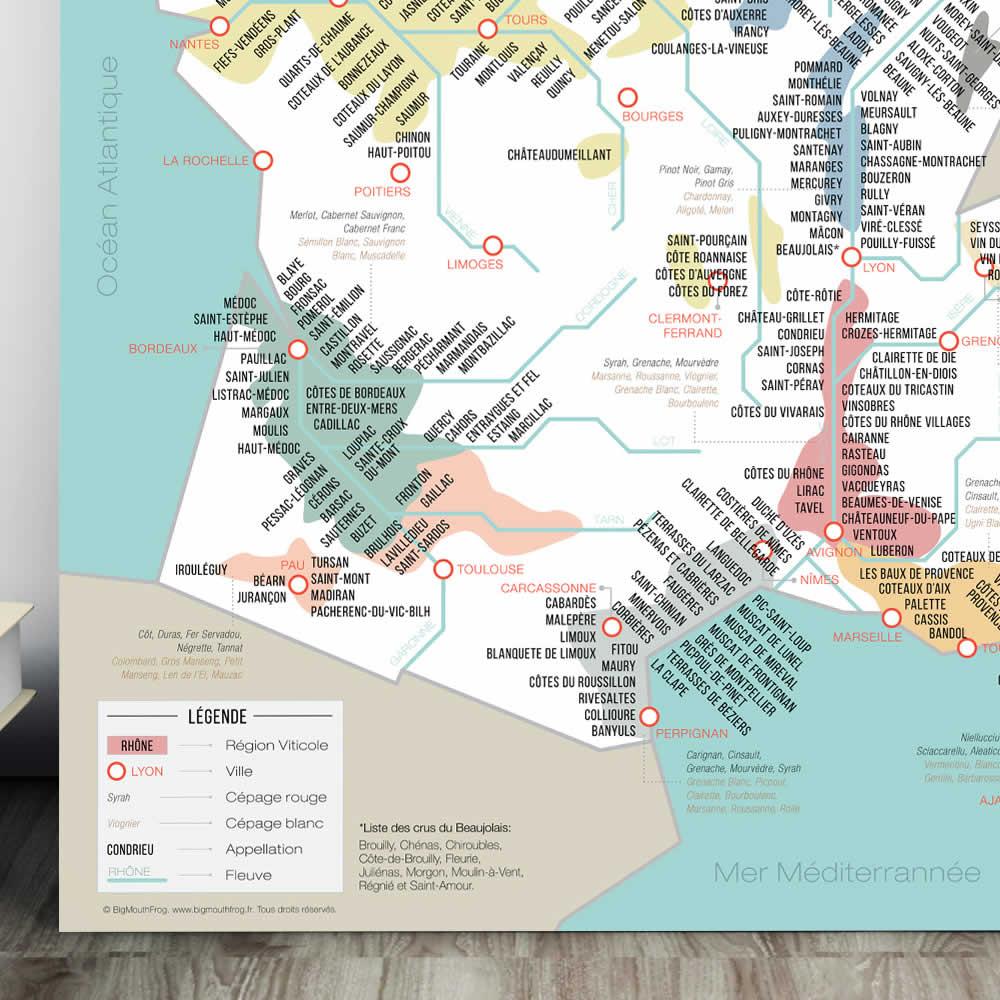Carte Des Vins De France : Régions, Cépages Et Appellations avec Carte De France Detaillée Gratuite
