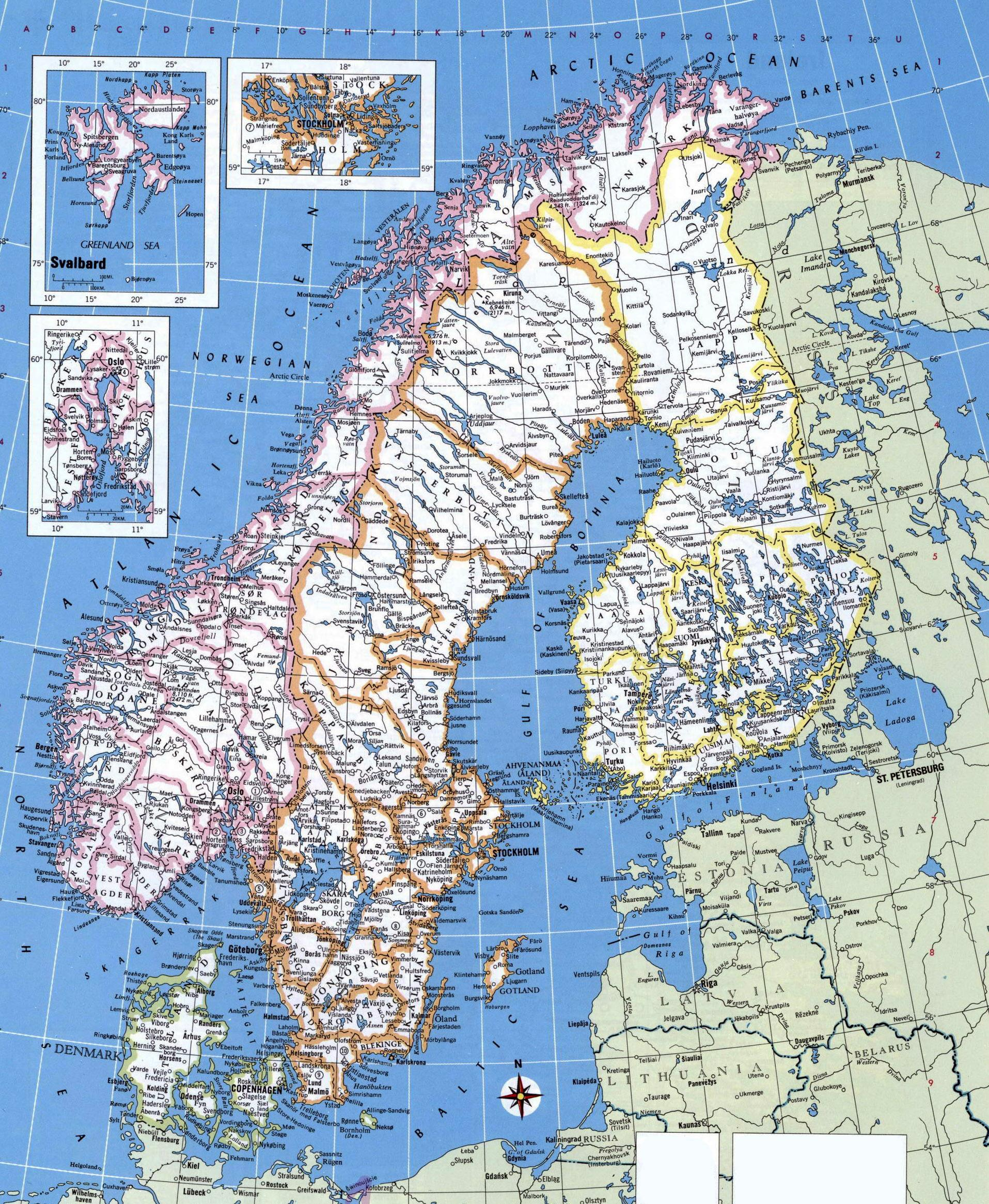 Carte Détaillée De La Norvège - Carte Détaillée De La concernant Carte De L Europe Détaillée