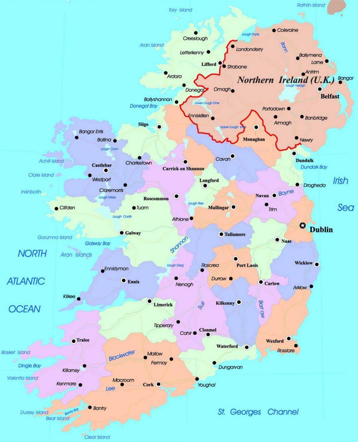 Carte Détaillée De L'irlande - Carte De Irlandes (Europe Du concernant Carte De L Europe Détaillée