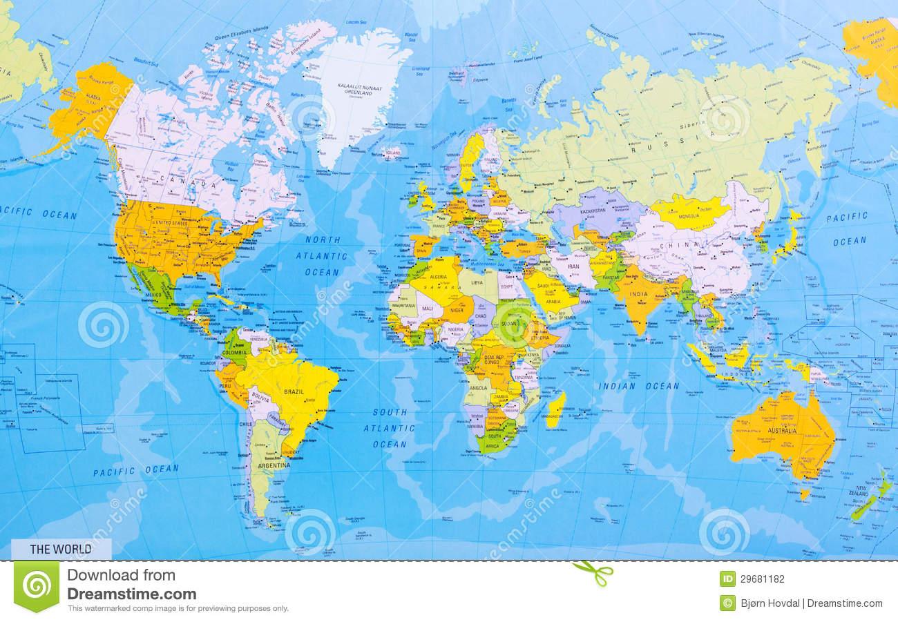 Carte Détaillée Du Monde Photo Stock. Image Du Illustration tout Carte Du Monde Avec Capitale
